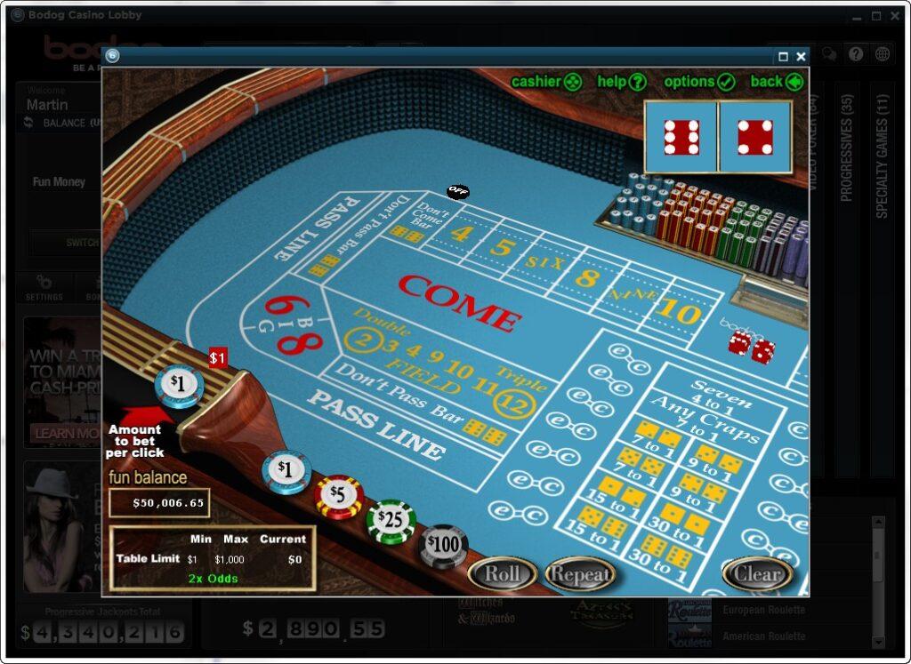 Casinoper Crap